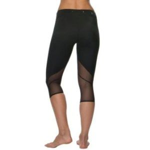 JOLYN Byron Legging Crop Capri Black Athletic Mesh